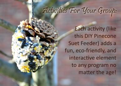 pinecone suet feeder